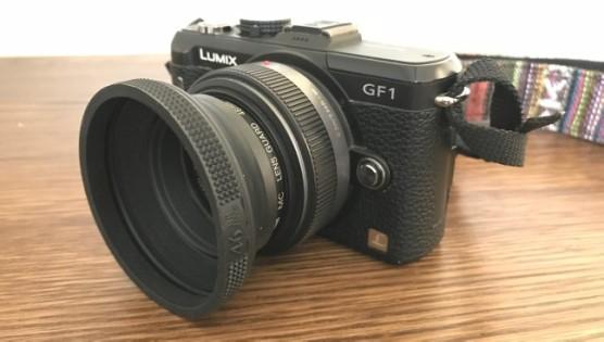 GF1 標準ズームレンズ セット かっこよくなった レンズフード