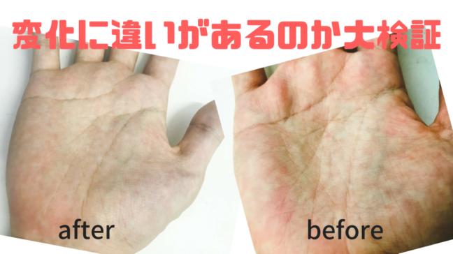 手相 変化 期間 周期 左手 写真 運命 過去の手を並べた 左が現在 右が10か月前